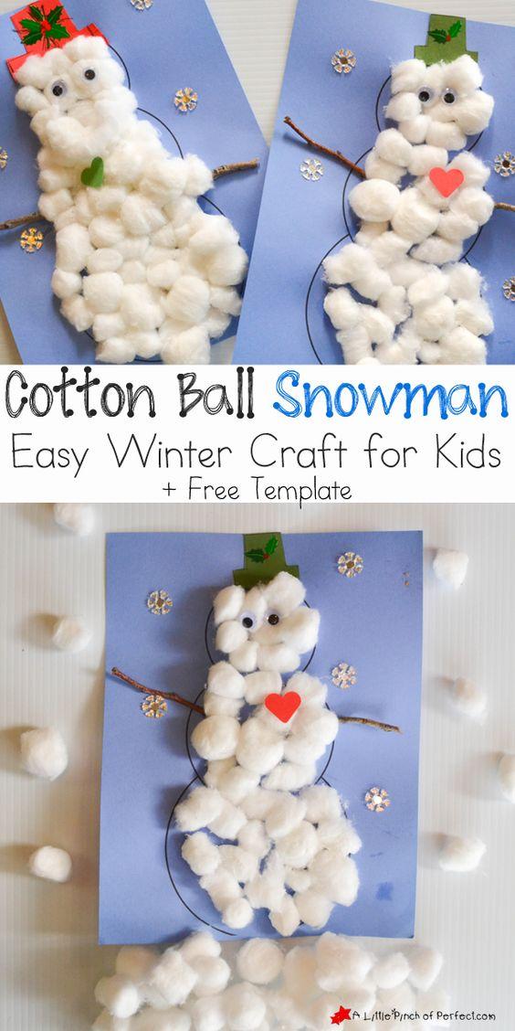 Cottonball Snowmen