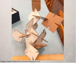 Cardboard Square Building Challenge