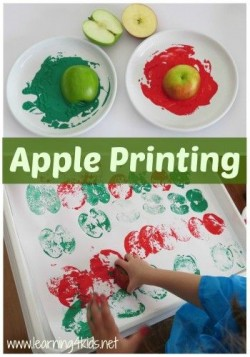 Crafternoons - Apple Stamping Prints!